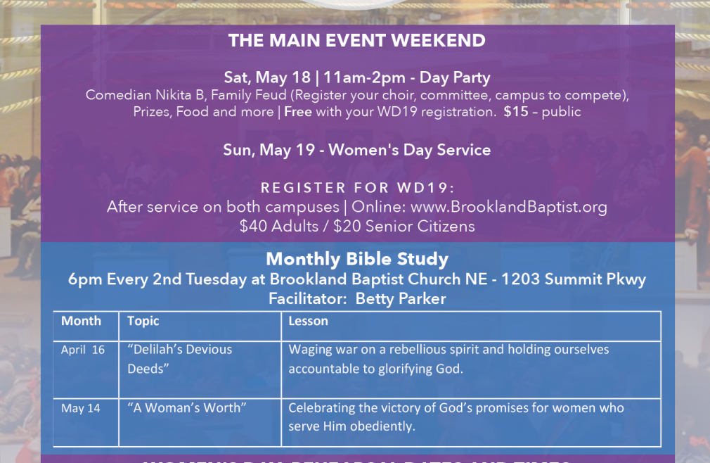 Women's Day Bible Study 2019