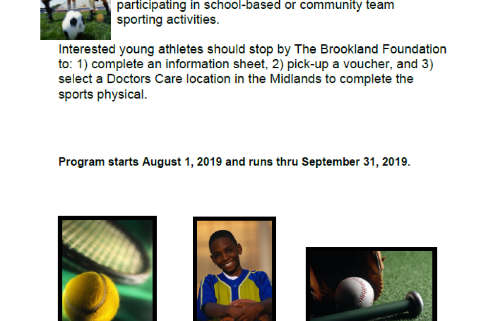 Free Sport Physicals for Middle School Students