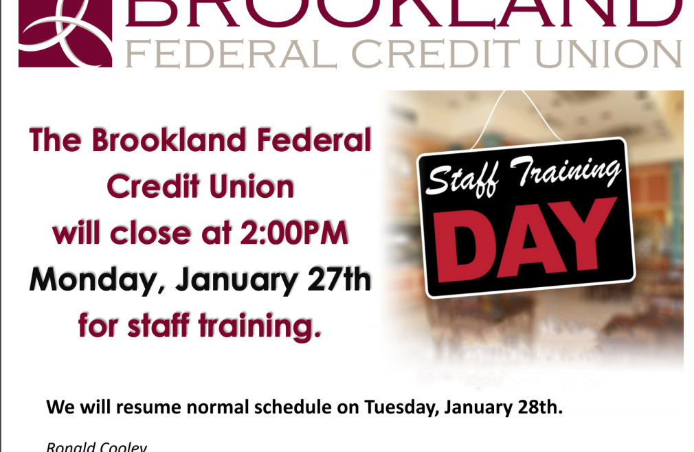 Brookland Federal Credit Union Closing